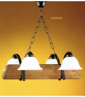 LAMPARA DE TECHO ESTILO RUSTICO, REF: TARA L-2200/4