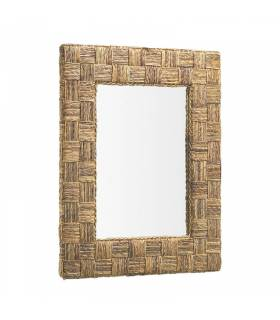 Espejo de pared colonial rattan Moycor