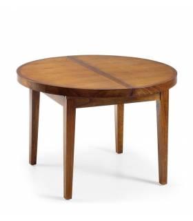 mesa de comedor redonda extensible 120 cm. diamétro