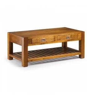 mesa centro 2 cajones 1 estante