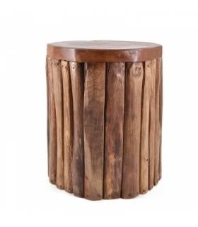 taburete de troncos verticales
