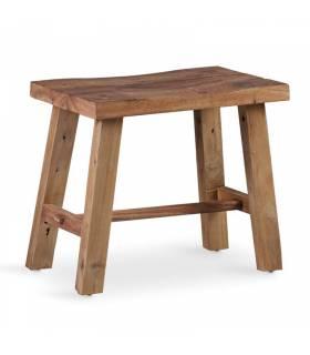 taburete rectangular de madera reciclada