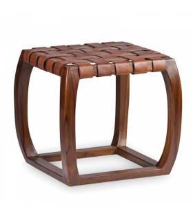 taburete asiento piel trenzada