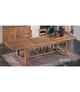 Mesa amplia y extensible de calidad.