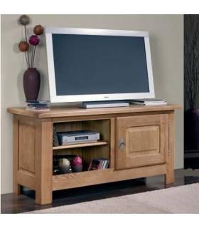 Mesa cómoda y acogedora para colocar tu Tv. Además dispone de una pequeña puerta y dos estanterías.