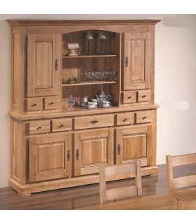Vitrina de lujo y realizada con madera de alta calidad.