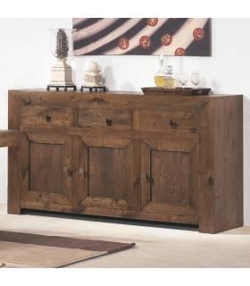 Aparador de estilo rústico realizado con madera de calidad.