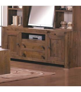 Aparador de estilo rustico y colonial, realizado con maderas de alta calidad.