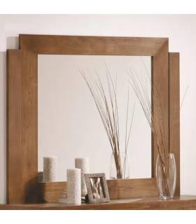 Espejo estilo rustico, realizado en madera de roble macizo.