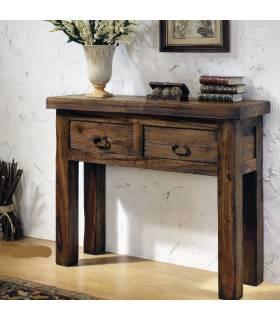 Recibidor de estilo rústico realizado en madera de alta calidad.