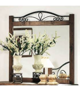 Espejo de estilo rustico.
