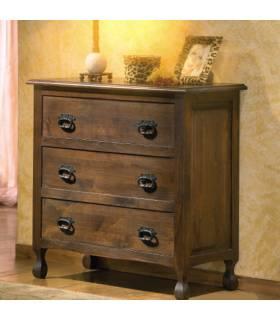 Cómoda de estilo rustico realizado en madera de roble macizo.