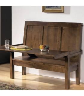 Banco de estilo rústico realizado en madera de alta calidad.