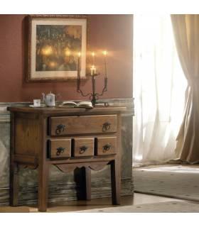 Recibidor de estilo rustico realizado en madera de roble macizo.