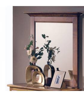 Espejo de estilo rústico realizado en madera de roble macizo.