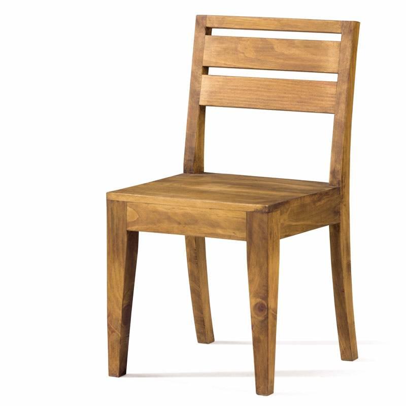 sillas madera pino alcañiz