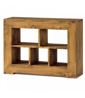 Mesa lateral de estilo rustico