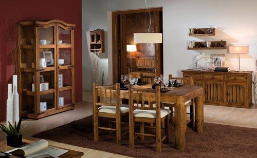 Decorar un salón con muebles de roble macizo