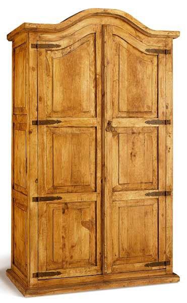 armario rustico en madera maciza de pino