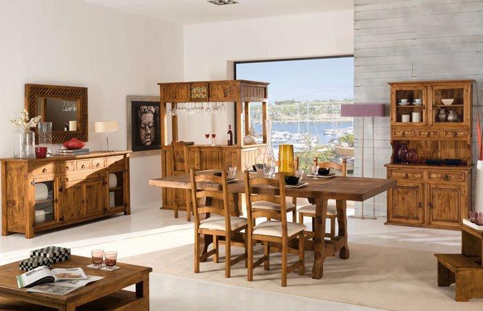 salón conjunto rustico mueble mexicano