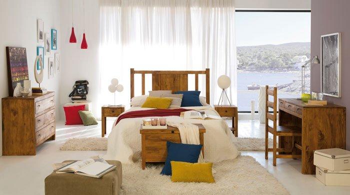 dormitorio conjunto rustico mueble mexicano
