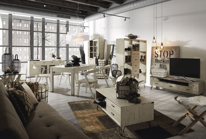 Salón colección Muria de MOYCOR, financiación de mueble estilo colonial