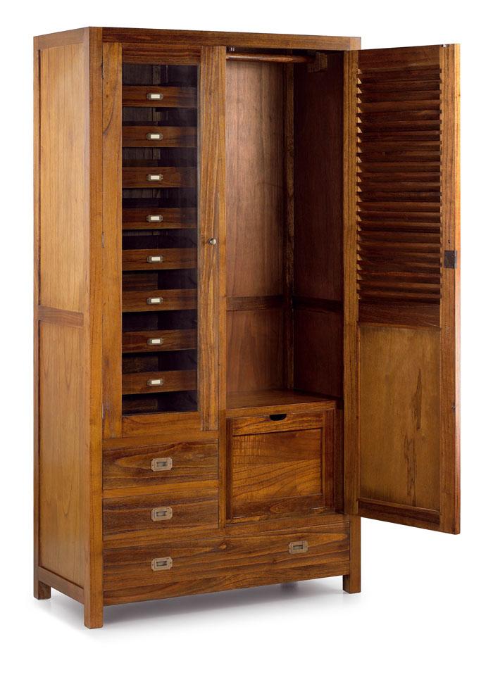 Armario en madera maciza de mendi ref 30188 for Limpiar armarios de madera