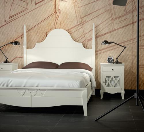 Dormitorios de madera maciza - Dormitorio colonial blanco ...