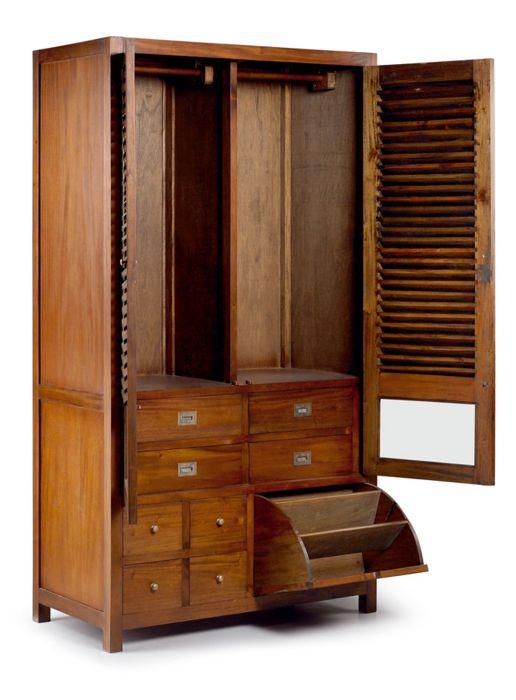 Mueble de dormitorio de gran calidad armario de madera maciza de caoba - Zapatero rustico ...
