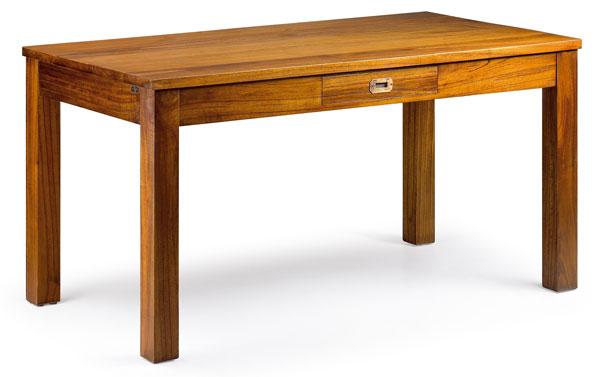 mesa colonial con un cajon