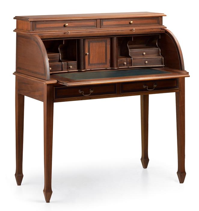 Mesas de estudio escritorio buro con persiana estilo - Escritorio vintage ...