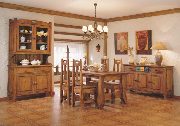 mobiliario de la fabrica de muebles rusticos