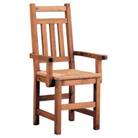 silla colonial con apoyabrazos